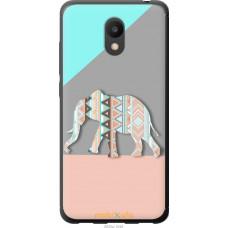 Чехол на Meizu M6 Узорчатый слон