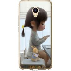 Чехол на Meizu M5s Милая девочка с зайчиком
