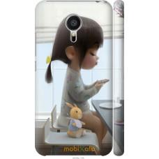Чехол на Meizu MX5 Милая девочка с зайчиком