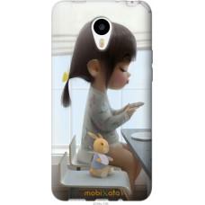 Чехол на Meizu M1|M1 mini Милая девочка с зайчиком