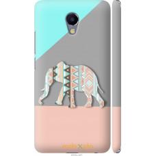 Чехол на Meizu M5 Note Узорчатый слон
