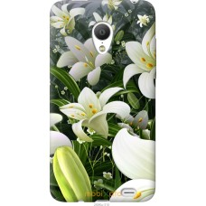 Чехол на Meizu MX3 Лилии белые