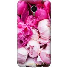 Чехол на Meizu Metal Розовые цветы