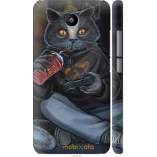 Чехол на Meizu M2 Note gamer cat