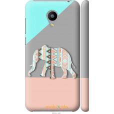 Чехол на Meizu M2 Узорчатый слон