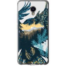 Чехол на Meizu M3e Арт-орел на фоне природы