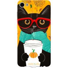Чехол на Meizu U10 Осенний кот