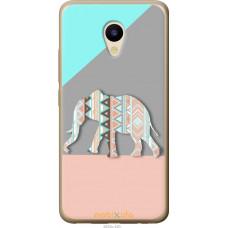 Чехол на Meizu M5 Узорчатый слон