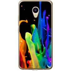 Чехол на Meizu M5 брызги краски
