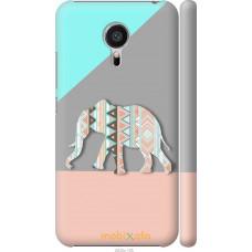 Чехол на Meizu MX5 Узорчатый слон