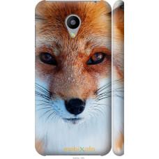 Чехол на Meizu M2 Рыжая лисица