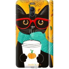 Чехол на Meizu M6 Note Осенний кот