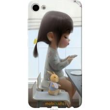 Чехол на Meizu U10 Милая девочка с зайчиком