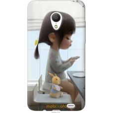 Чехол на Meizu MX3 Милая девочка с зайчиком