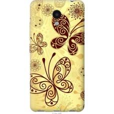 Чехол на Meizu M5c Рисованные бабочки
