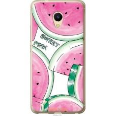 Чехол на Meizu M5s Розовый арбузик
