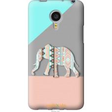 Чехол на Meizu MX4 PRO Узорчатый слон