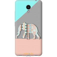 Чехол на Meizu M5c Узорчатый слон