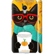 Чехол на Meizu M3 Осенний кот