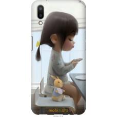 Чехол на Meizu E3 Милая девочка с зайчиком