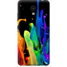 Чехол на Meizu M5c брызги краски