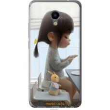 Чехол на Meizu M3e Милая девочка с зайчиком