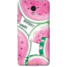 Чехол на Meizu M5c Розовый арбузик