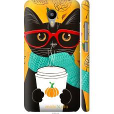 Чехол на Meizu M2 Note Осенний кот