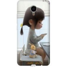 Чехол на Meizu Metal Милая девочка с зайчиком