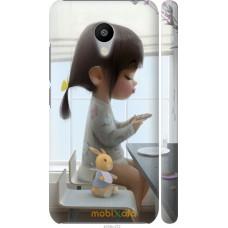 Чехол на Meizu M3s Милая девочка с зайчиком