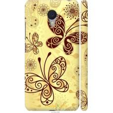 Чехол на Meizu M3 Note Рисованные бабочки