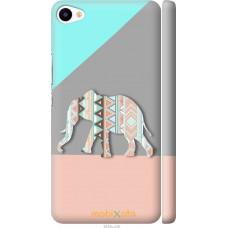 Чехол на Meizu U20 Узорчатый слон