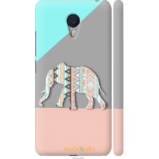 Чехол на Meizu M3 Note Узорчатый слон