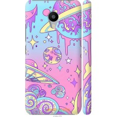 Чехол на Meizu M3 'Розовый космос