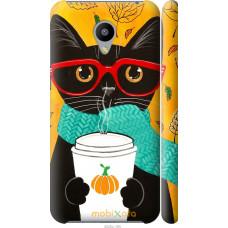 Чехол на Meizu M2 Осенний кот