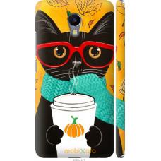 Чехол на Meizu M5 Note Осенний кот