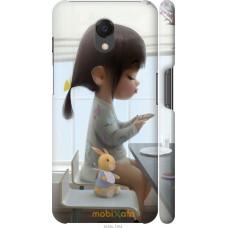 Чехол на Meizu M6s Милая девочка с зайчиком