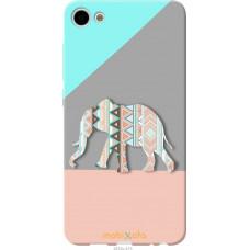 Чехол на Meizu U10 Узорчатый слон