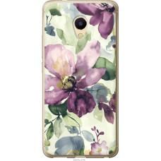 Чехол на Meizu M5s Акварель цветы