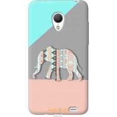 Чехол на Meizu MX3 Узорчатый слон
