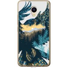 Чехол на Meizu M5 Арт-орел на фоне природы
