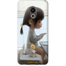 Чехол на Meizu Pro 6 Милая девочка с зайчиком