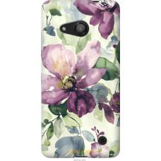 Чехол на Microsoft Lumia 550 Акварель цветы