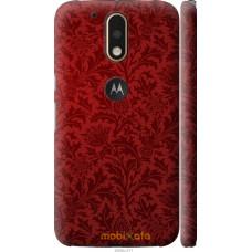 Чехол на Motorola MOTO G4 PLUS Чехол цвета бордо