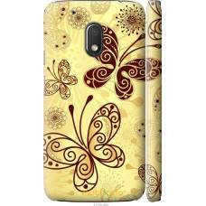 Чехол на Motorola Moto G4 Play Рисованные бабочки