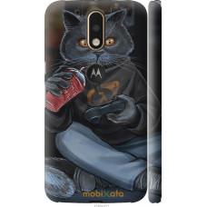 Чехол на Motorola MOTO G4 gamer cat