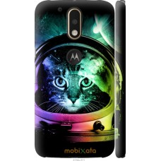 Чехол на Motorola MOTO G4 Кот космонавт