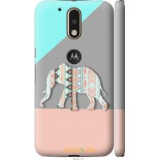 Чехол на Motorola MOTO G4 PLUS Узорчатый слон