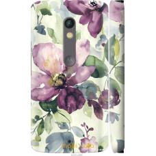 Чехол на Motorola Moto X Play Акварель цветы