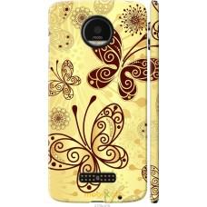 Чехол на Motorola MOTO Z Рисованные бабочки